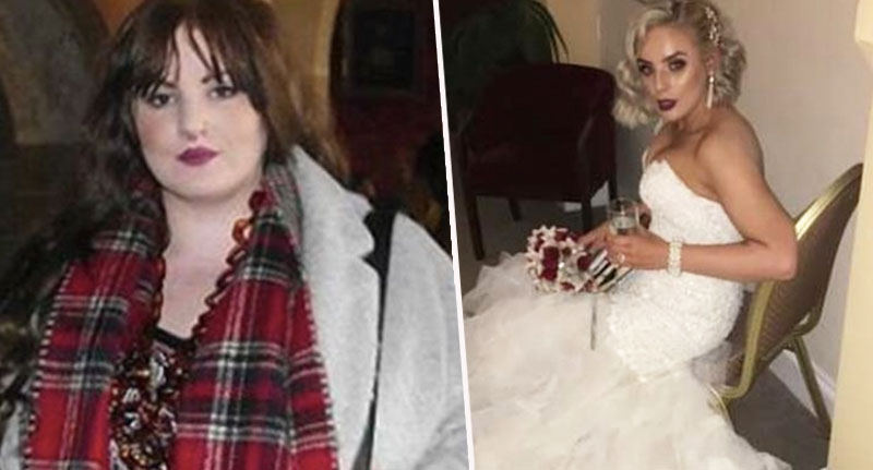Woman sheds half her weight for wedding