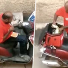Video Shows Delivery Guy Eating Customers' Food Before Resealing The Boxes