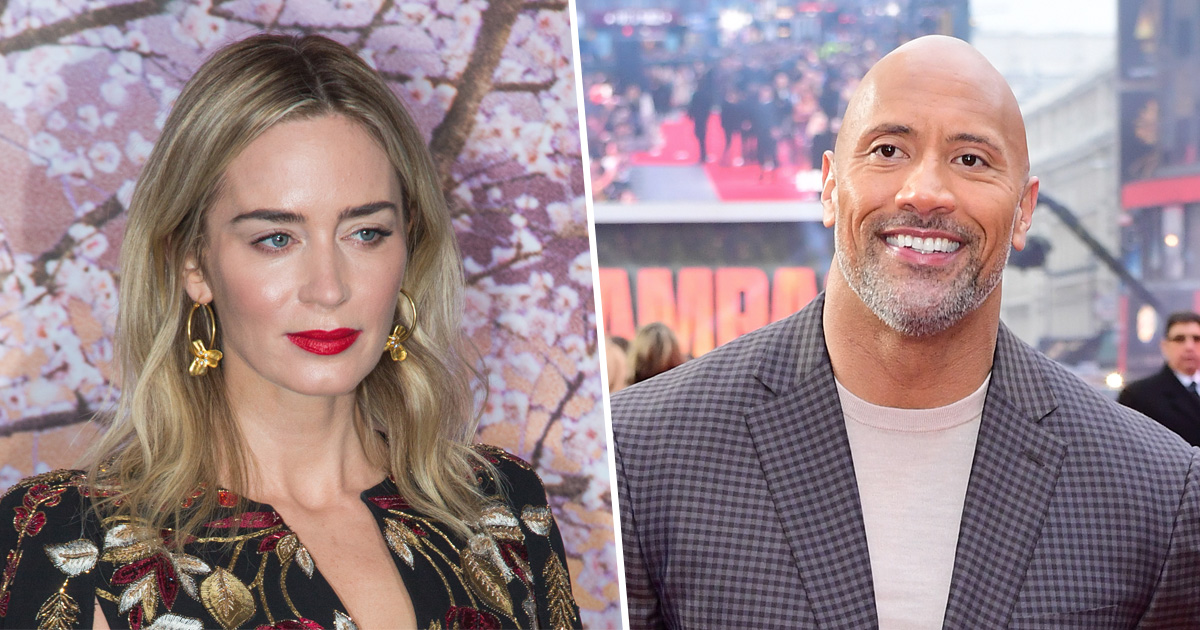 Emily Blunt and The Rock!