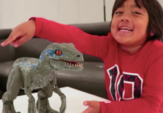 7-year-old makes $22 million a year on YouTube