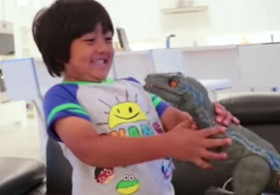 7-year-old makes $22million a year on YouTube
