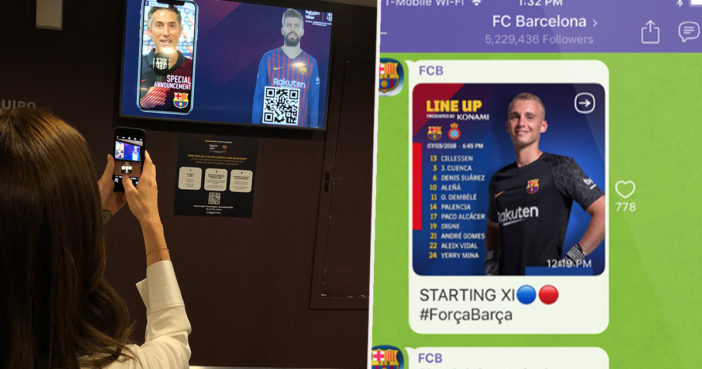 New app lets you feel like part of the Barcelona squad.