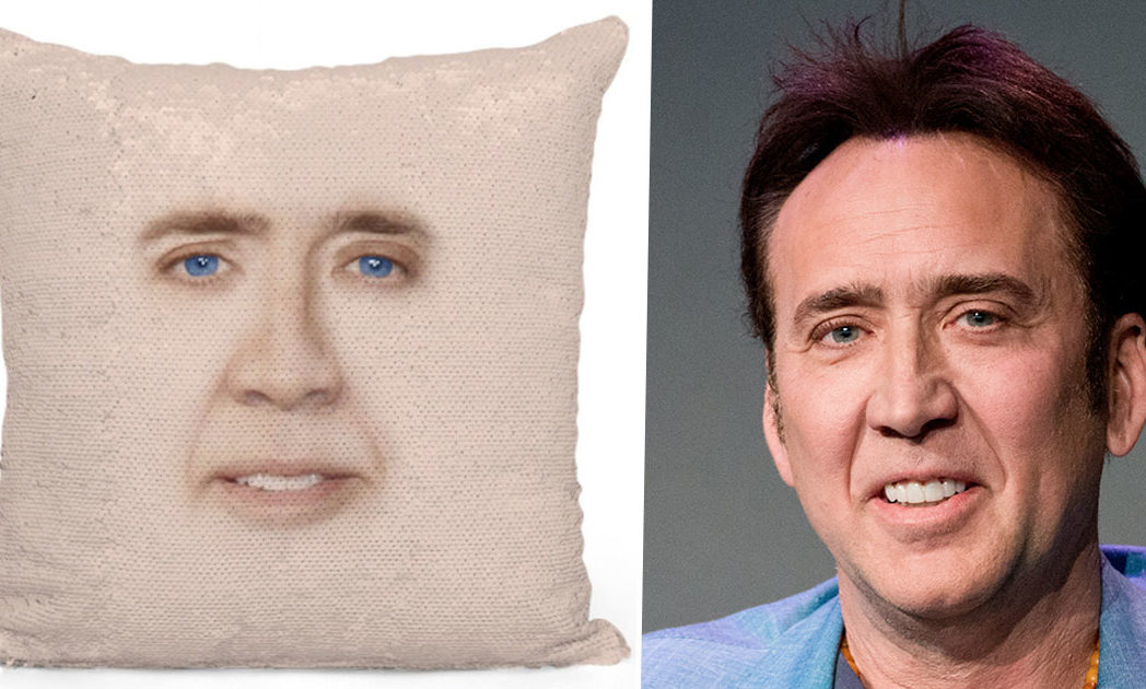 nicolas cage cushion