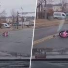 Terrifying Dashcam Footage Shows Moment Toddler Falls Out Of Car