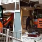 Digger Driver Completely Destroys Travelodge Because 'He's Owed £600 Wages'