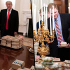 Trump Buys College Team Visiting White House Huge McDonald's Buffet