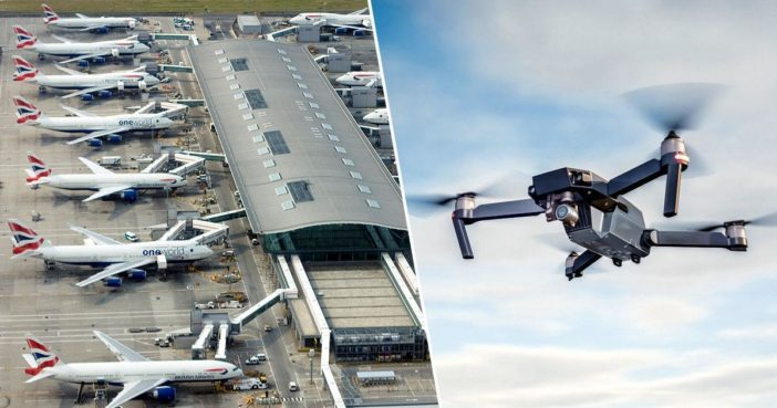 Suspected drone sighting at Heathrow.