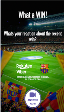 Viber lets you pretend to play for Barcelona.