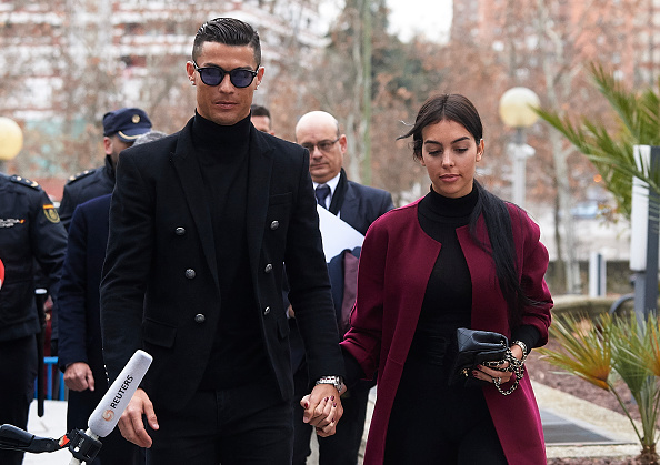 Ronaldo outside court with girlfriend