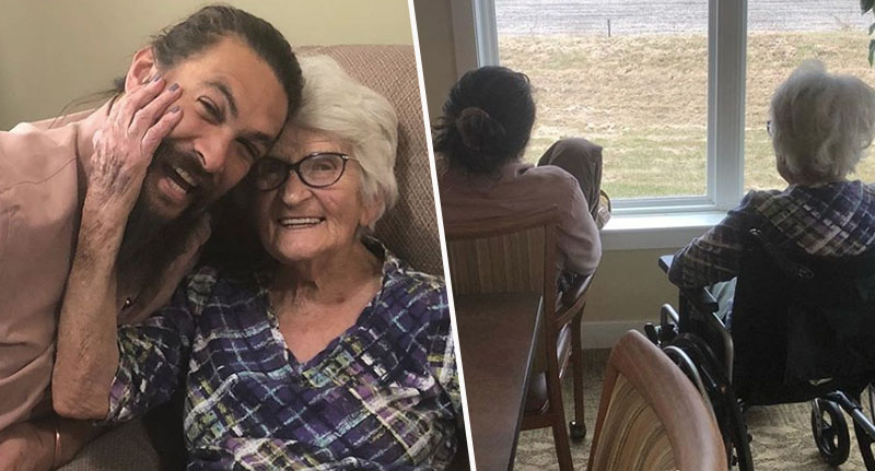 Jason Momoa has photoshoot with grandma