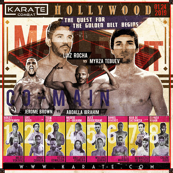 Karate Combat Hollywood Fight Card