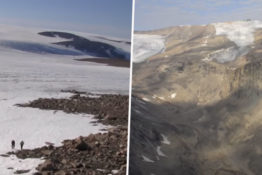 Melting glaciers reveal unseen land on Baffin Island