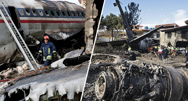 Military plane crashes in Iran
