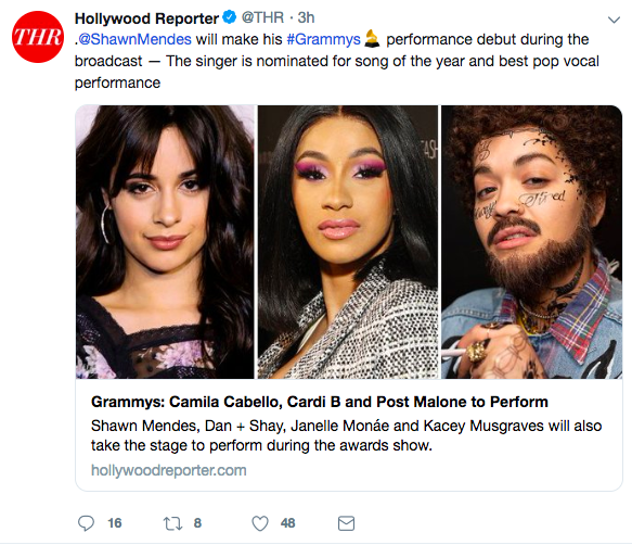 Hollywood Reporter used picture of Rita Ora instead of Post Malone