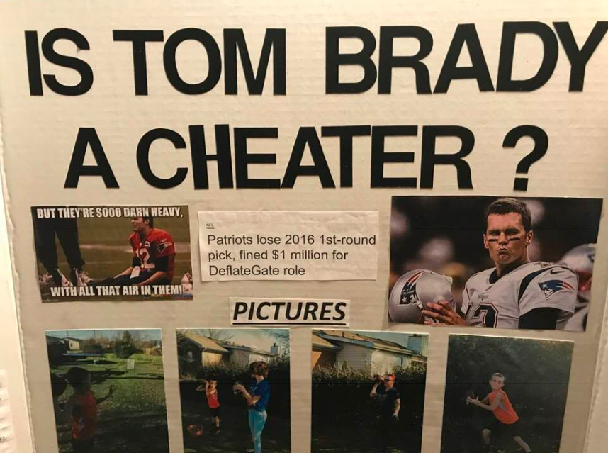 Schoolboy 'proves' Tom Brady is a cheater in science fair