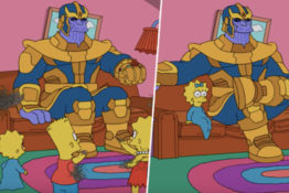 Thanos pays The Simpsons a visit.