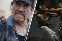 Danny Trejo announcing at Karate Combat Hollywood