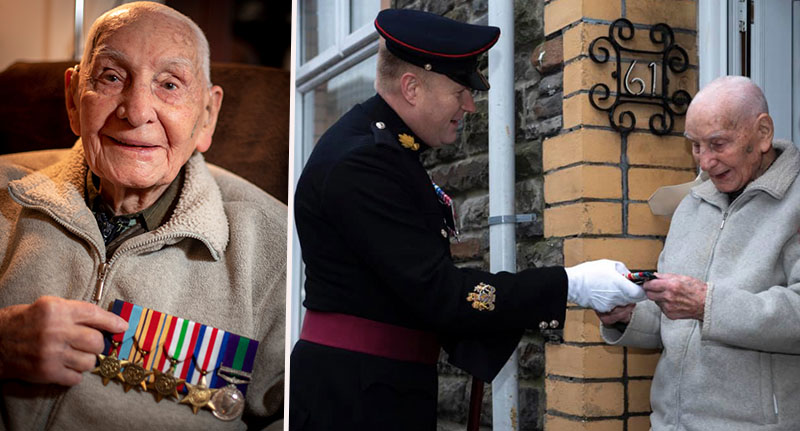 War Veteran reunited with lost medals