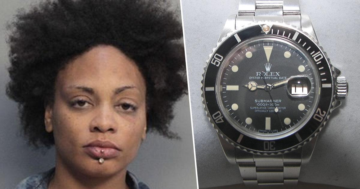 Woman caught hiding rolexes up vagina