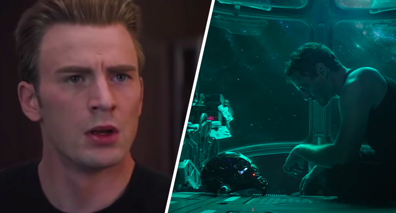 two stills from the Endgame trailer