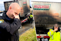police and doughnut truck