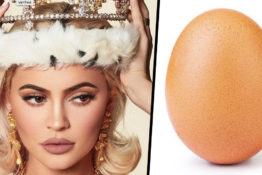Kylie Jenner surpassed by an egg