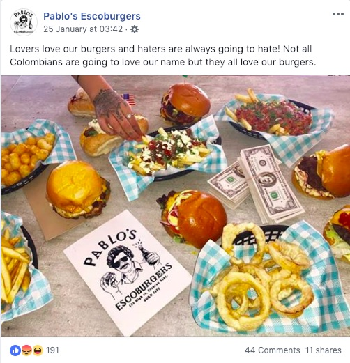 Pablo's Escoburgers food