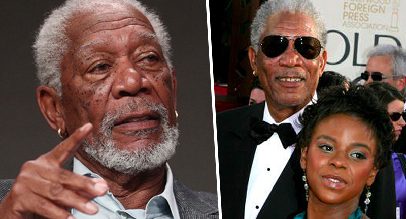 Morgan Freeman and step-granddaughter Hines