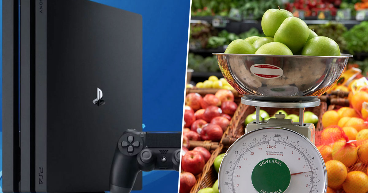 Guy pays nine euro for PS4 after weighing it on scales
