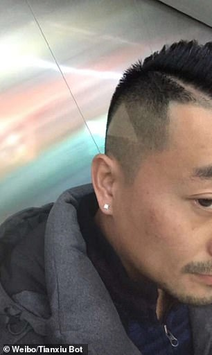 Man gets play button shaved into hair