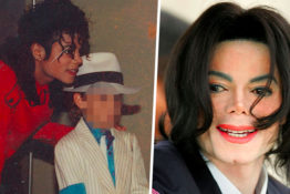 michael jackson portraits with boy and at court