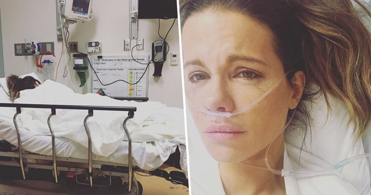 kate beckinsale in hospital