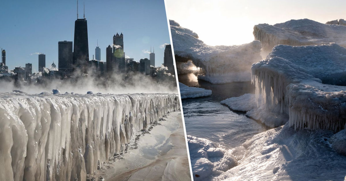 Lake Michigan Frozen Over Amid Dangerous Temperatures ...