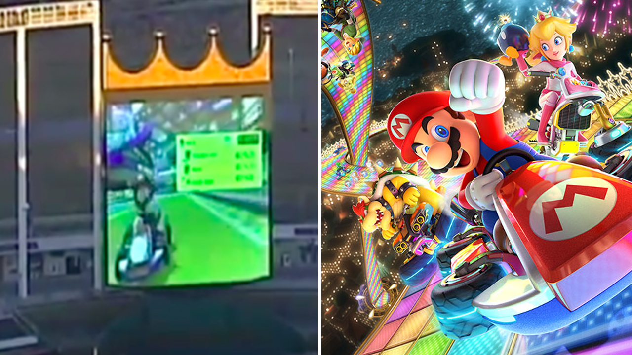 Mario Kart Giant screen