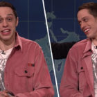 Pete Davidson Jokes About 'Suicide Threat' In First SNL Appearance Since