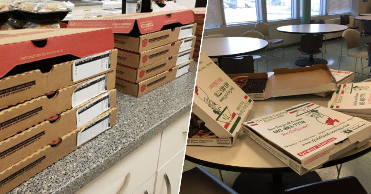 pizzas for atc in america