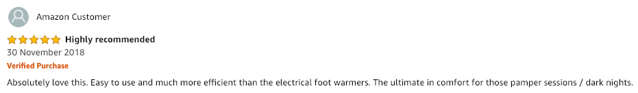 heated foot warmer review