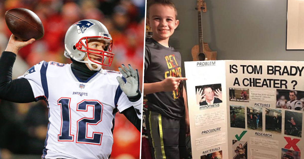 Schoolboy proves Tom Brady is a cheater in science project