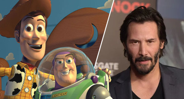 woody and buzz lightyear, and keanu reeves