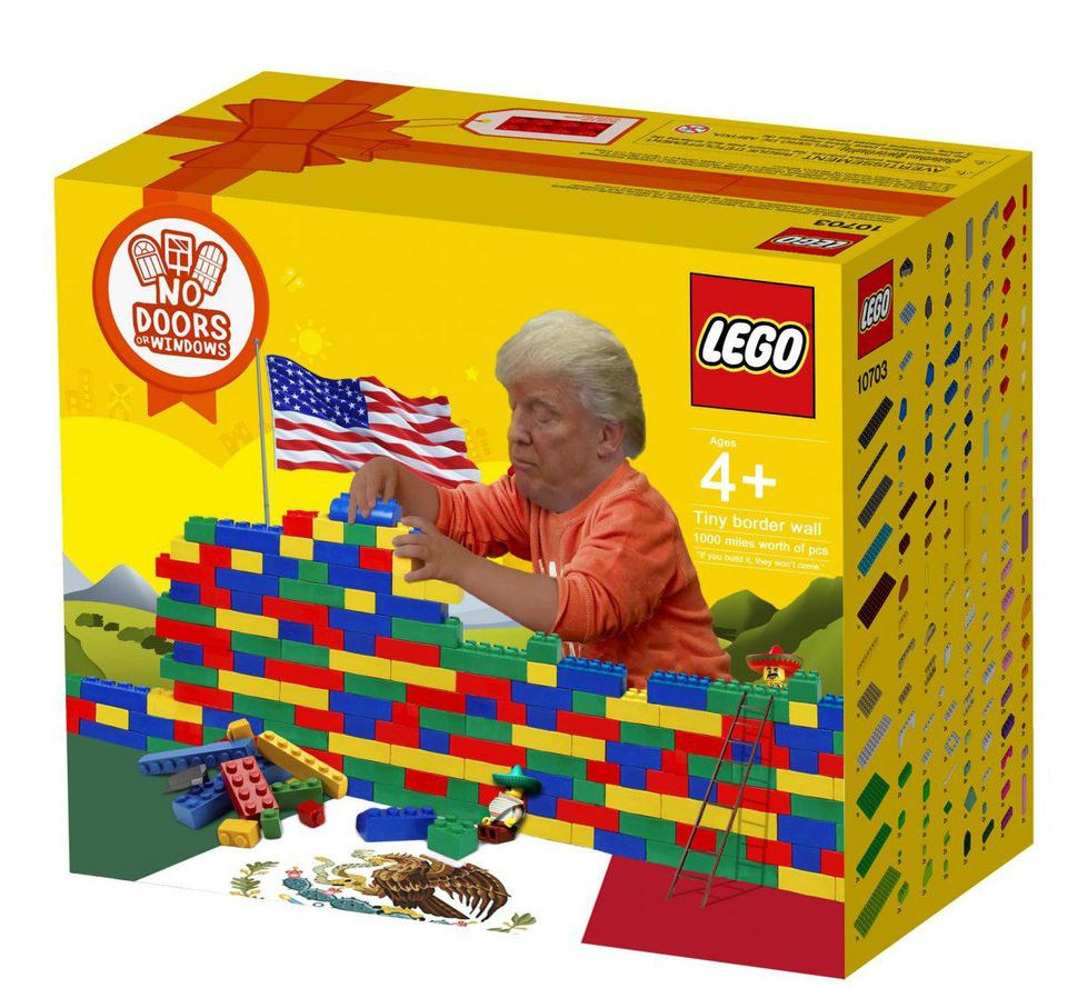 Trump Wall Lego Set