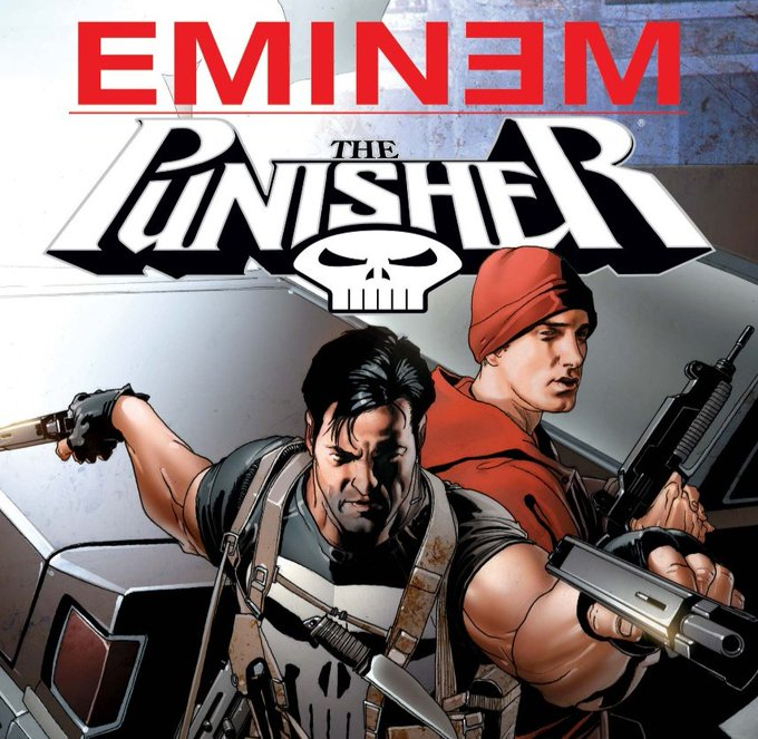 The Punisher/ Eminem comic cover