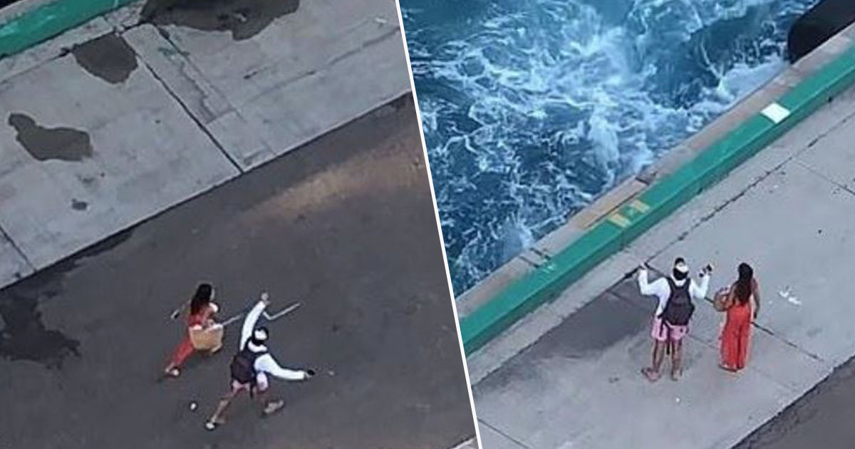 Couple left behind by cruise ship