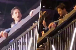 Paul Rudd at Foo Fighters Gig