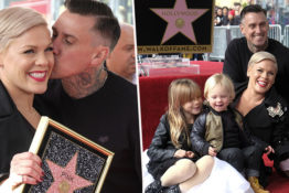 Pink gets her hollywood star on the walk of fame