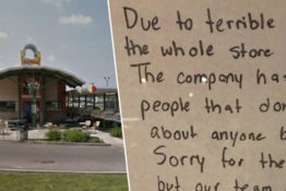 Entire staff quits and leaves brutal message for bosses