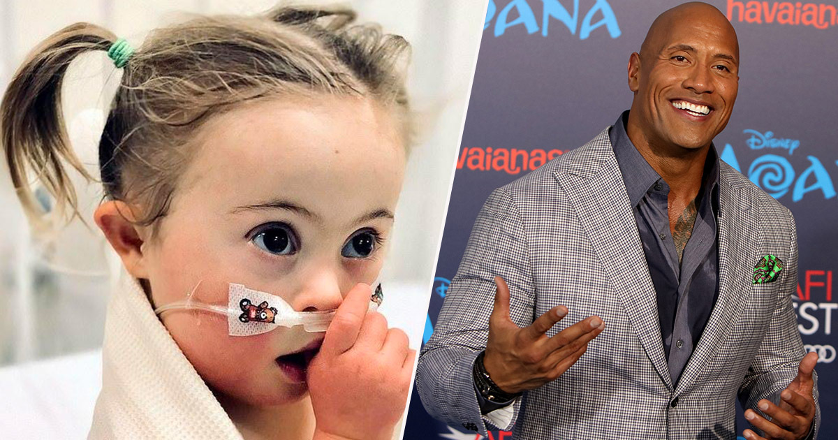 the rock sends a message to moana fan with downs syndrome