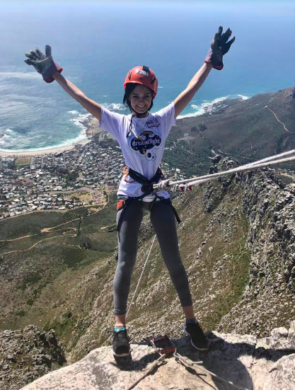 Woman does charity abseil 2 months after major surgery