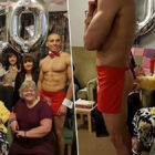 Great Great Grandma Celebrates 100th Birthday With Hunky Butlers