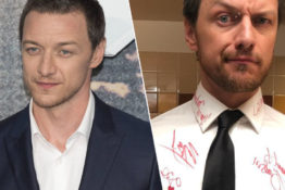 James McAvoy had celebrities sign his shirt at the Oscars