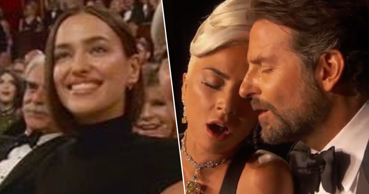 Irina Shayk reaction to Bradley Cooper and Lady Gaga's Oscar performance